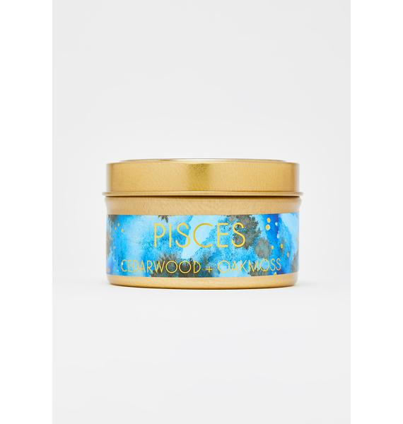 Often Wander Pisces Travel Tin Candle