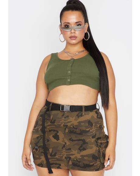 Babe Camo Lookin' For Me Cargo Skirt