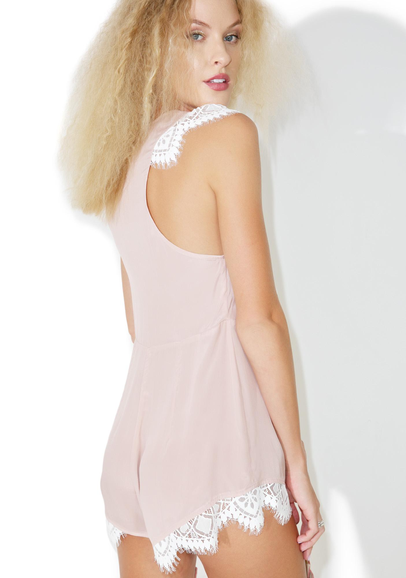 For Love & Lemons Blush Emmy Sleeper Romper