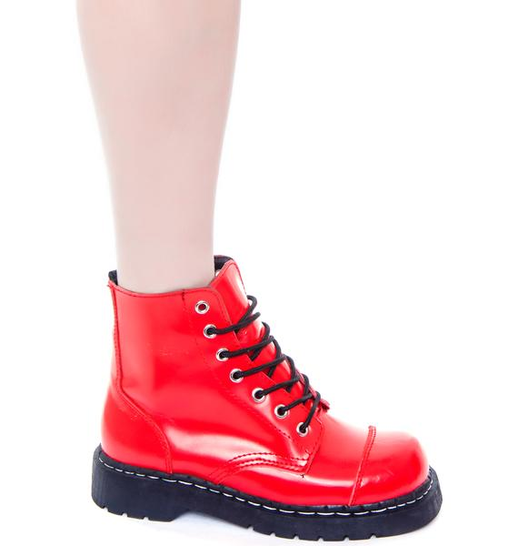 T.U.K. 7 Eye Cap Toe Boot