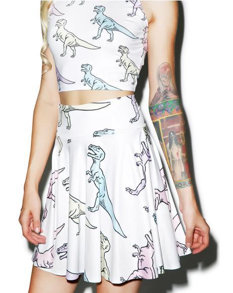 Dino Skater Skirt
