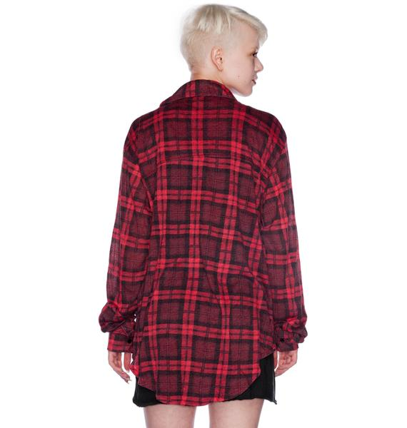 Wildfox Couture Coat of Arms Seattle Button Down Shirt
