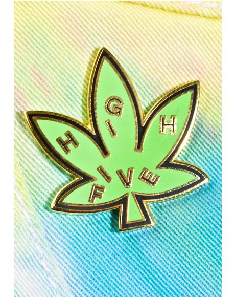 High Five Leaf Pin