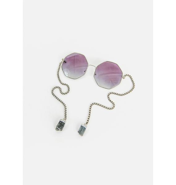 My Willows I Totally Paused Circle Sunglasses