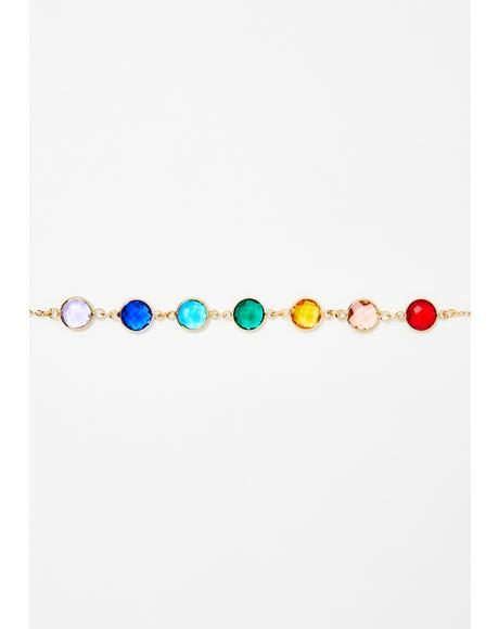 Like A Gem Rainbow Choker