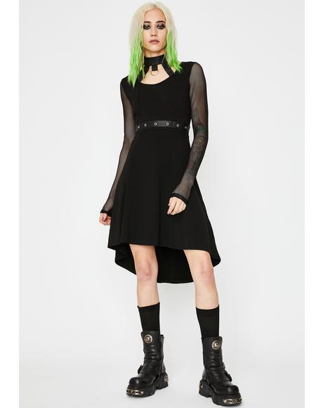 Fishnet Choker Dress