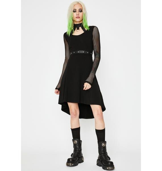Tripp NYC Fishnet Choker Dress