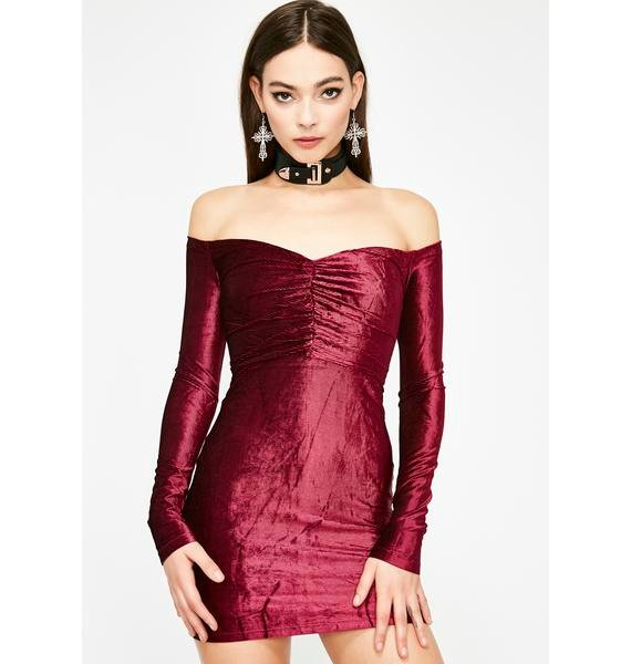Wild For The Night Velvet Dress