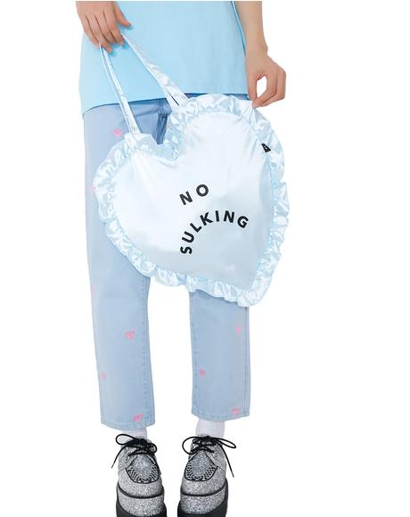 No Sulking Heart Bag