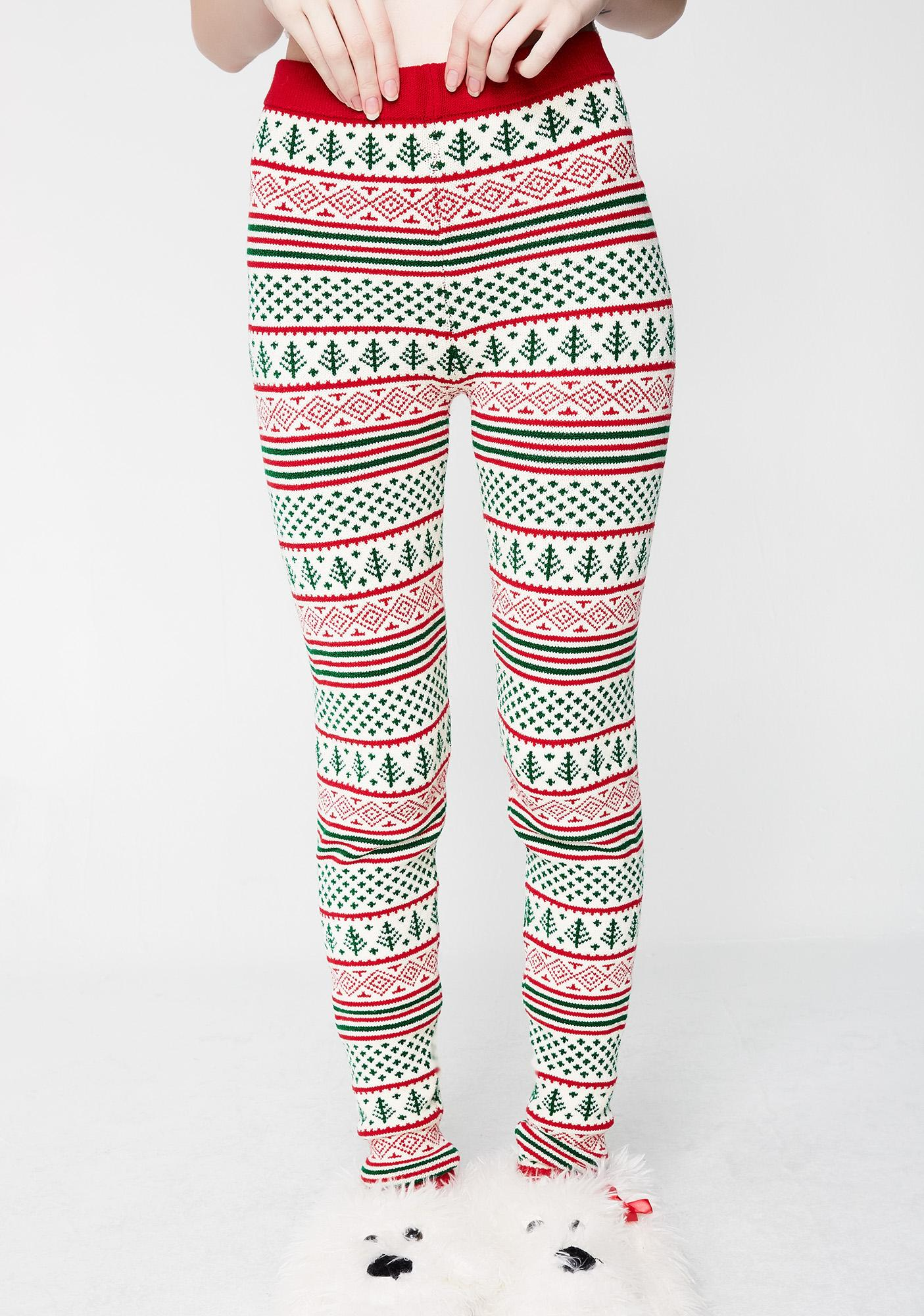 knitty kitty christmas tree leggings