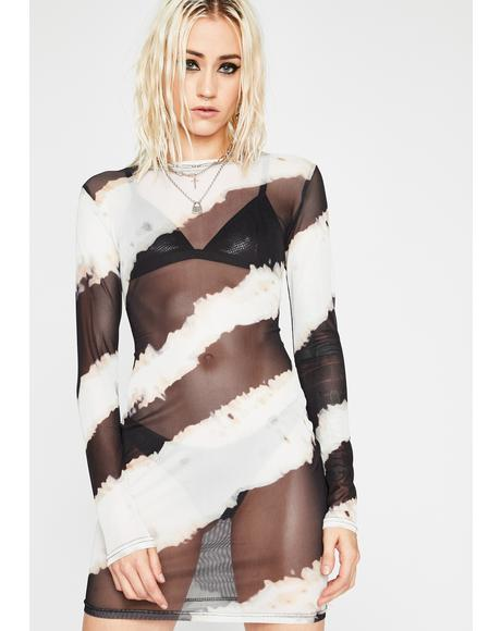 Distorted Disaster Sheer Dress