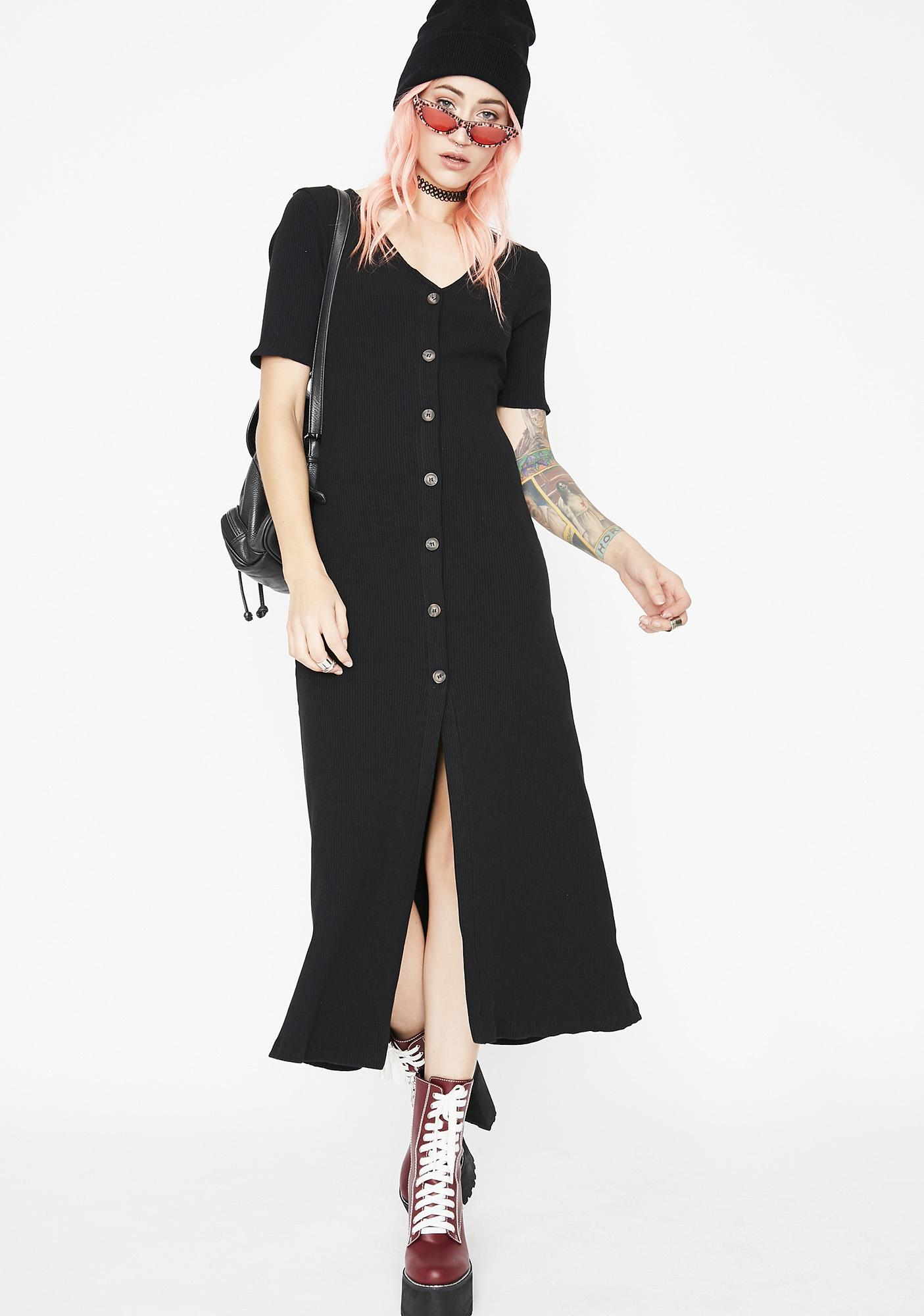 Doin' Just Fine Button Up Dress