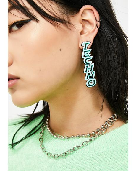 High Voltage Techno Earrings