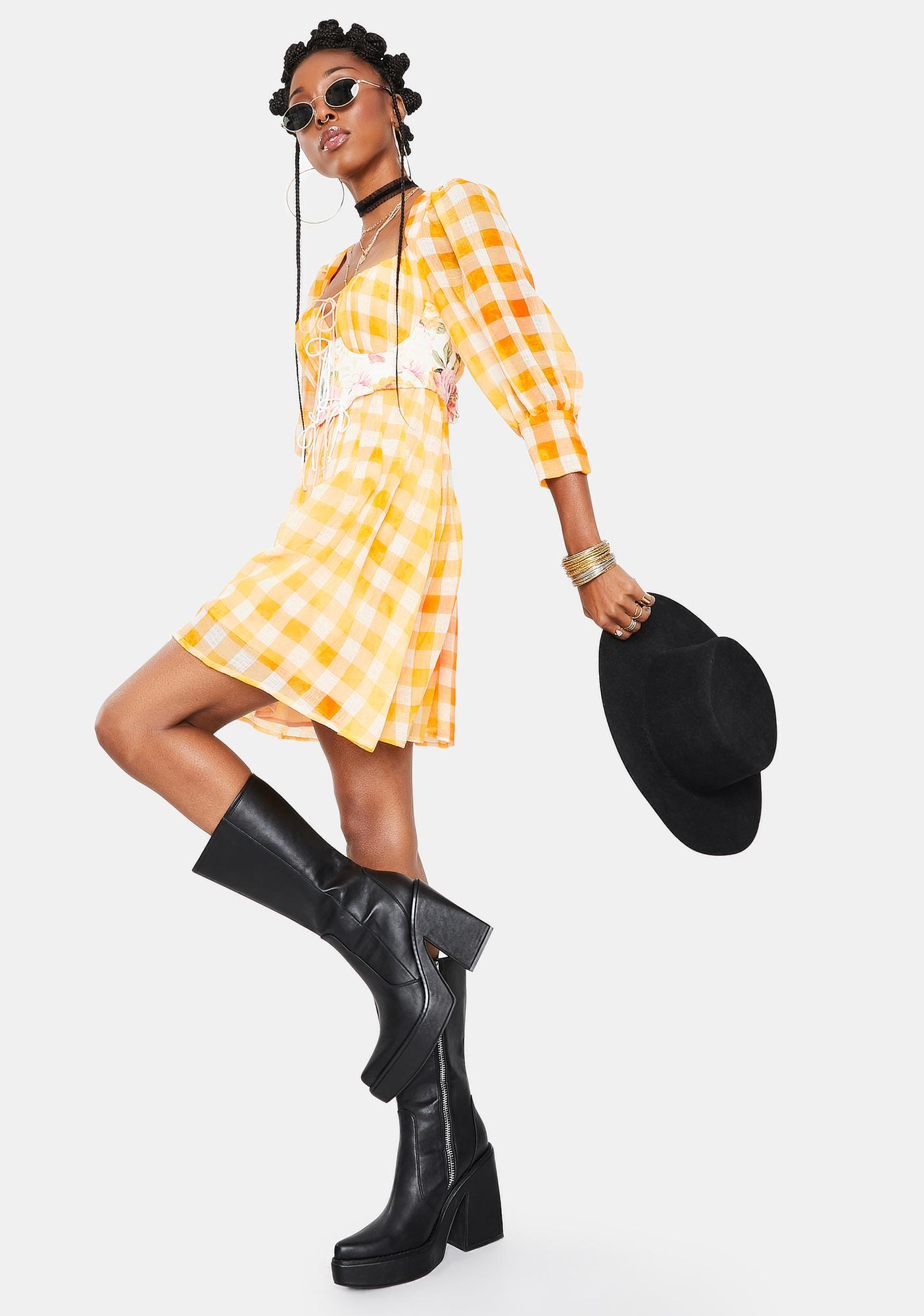 For Love & Lemons Mimosa Corset Dress