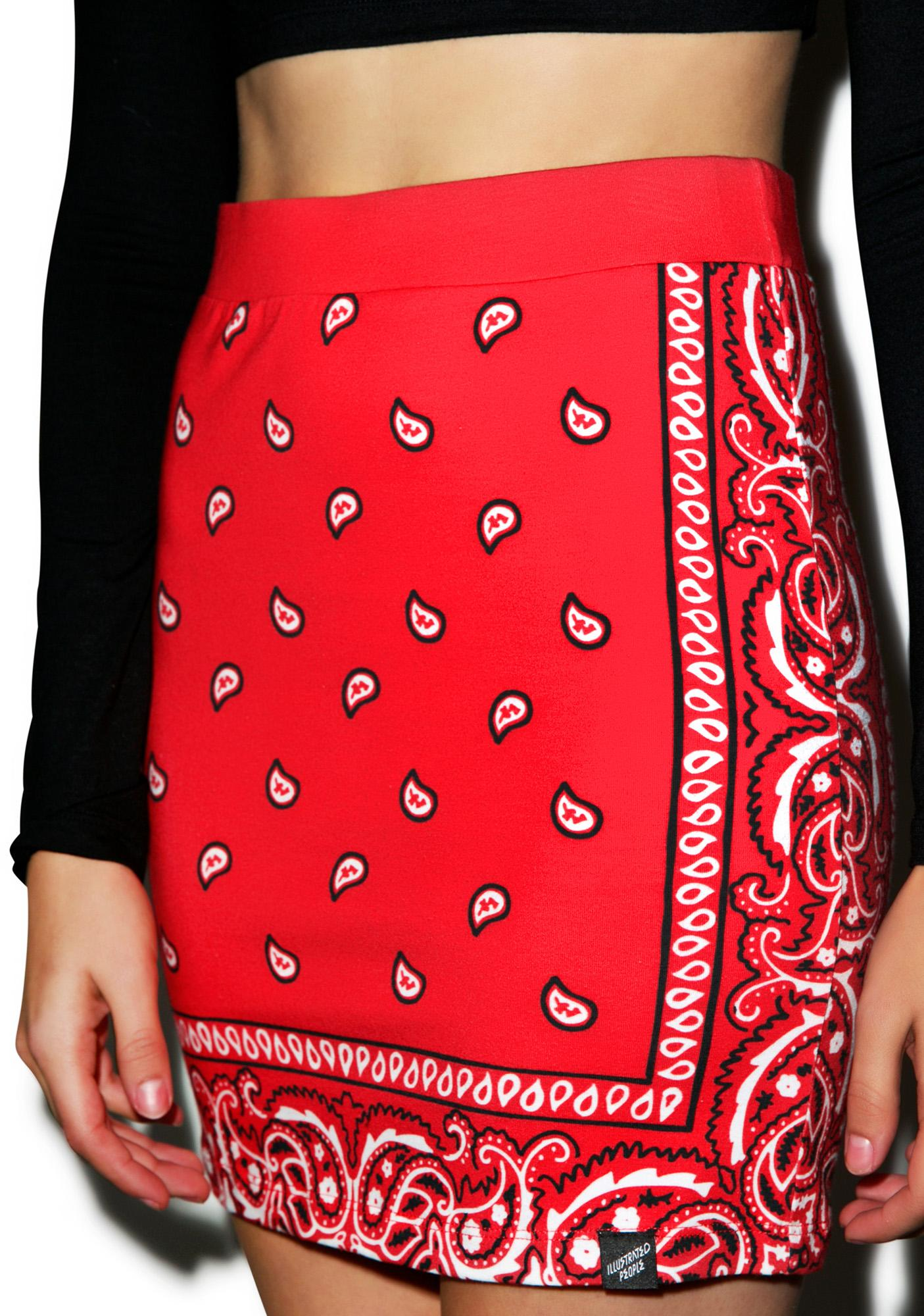 Illustrated People Bandana Mini Skirt