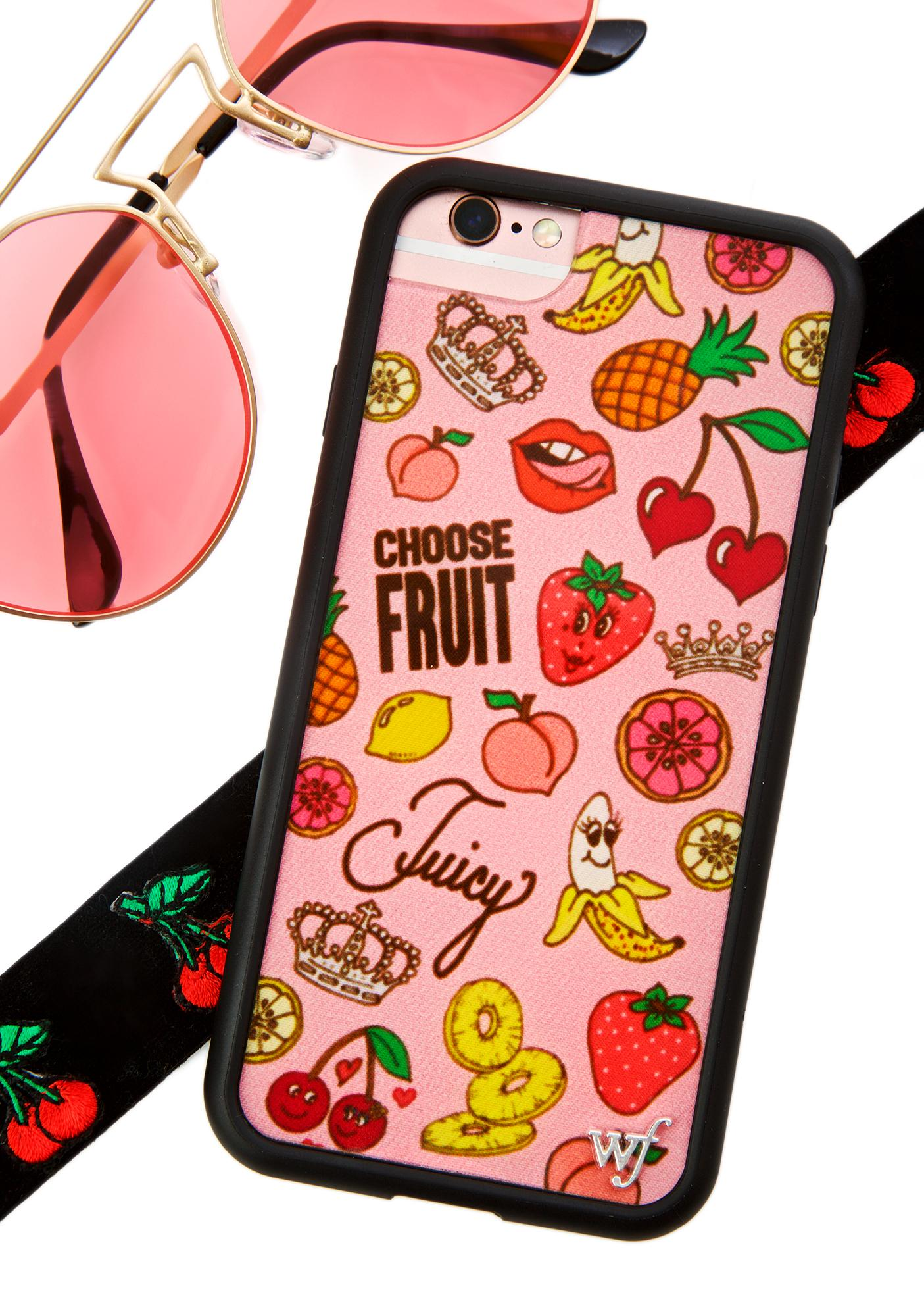 Wildflower Juicy Fruit iPhone Case