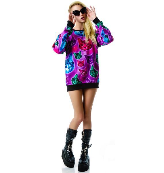 Killstar Space Cats Sweatshirt