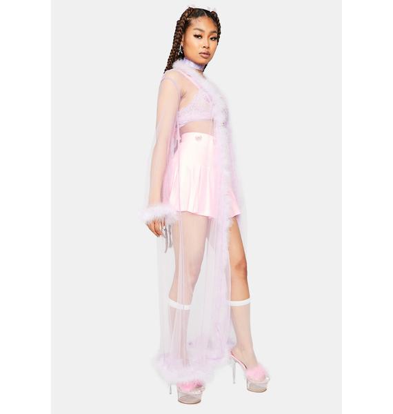 Lavender Dance Of Seduction Marabou Sheer Robe