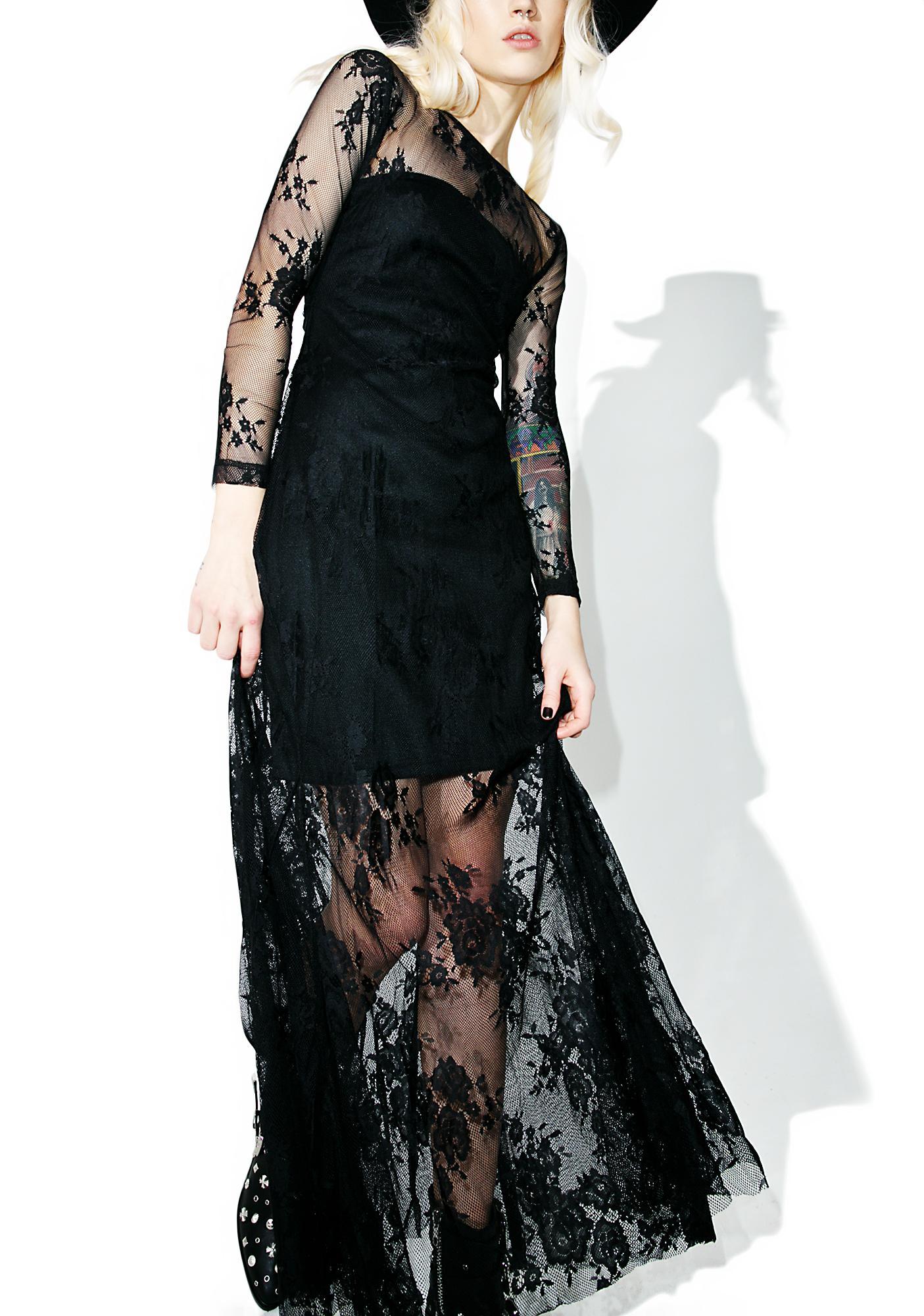 Glamorous Healer Lace Maxi Dress