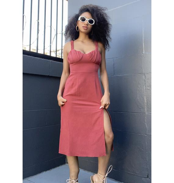 Glamorous Faded Red Midi Dress