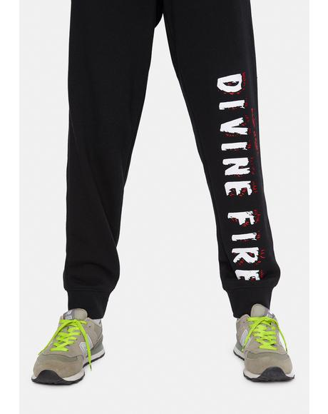 X Playdude Divine Fire Sweatpants