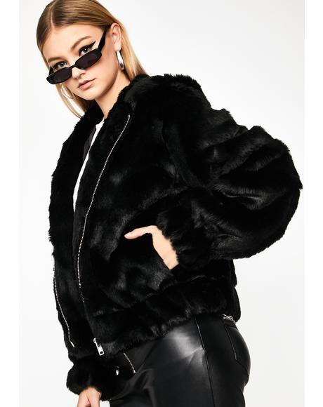 I'm The Realest Faux Fur Coat