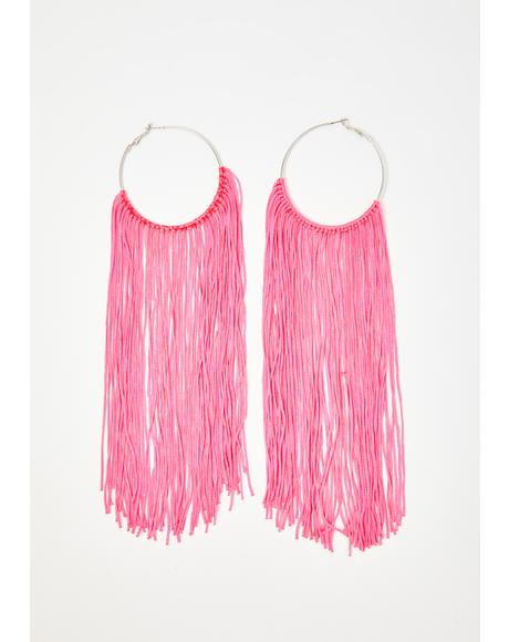 Fringe Society Hoop Earrings