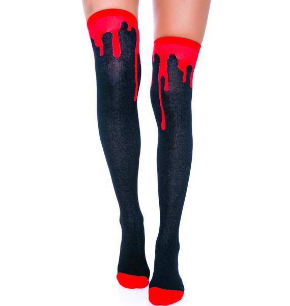 Sourpuss Clothing Bloody Hell Socks