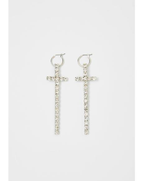 Most Valuable Prayer Cross Earrings