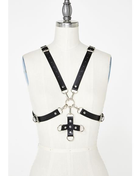 Repent Your Sinz Cross Harness