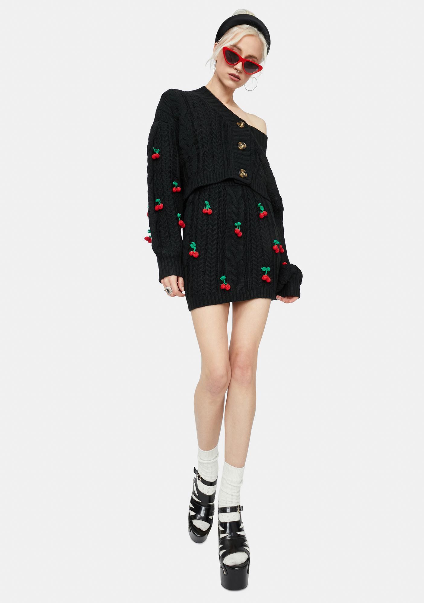 Cherry Sweet Tales Button Down Skirt