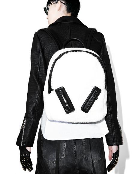 Charlie Shearling Backpack