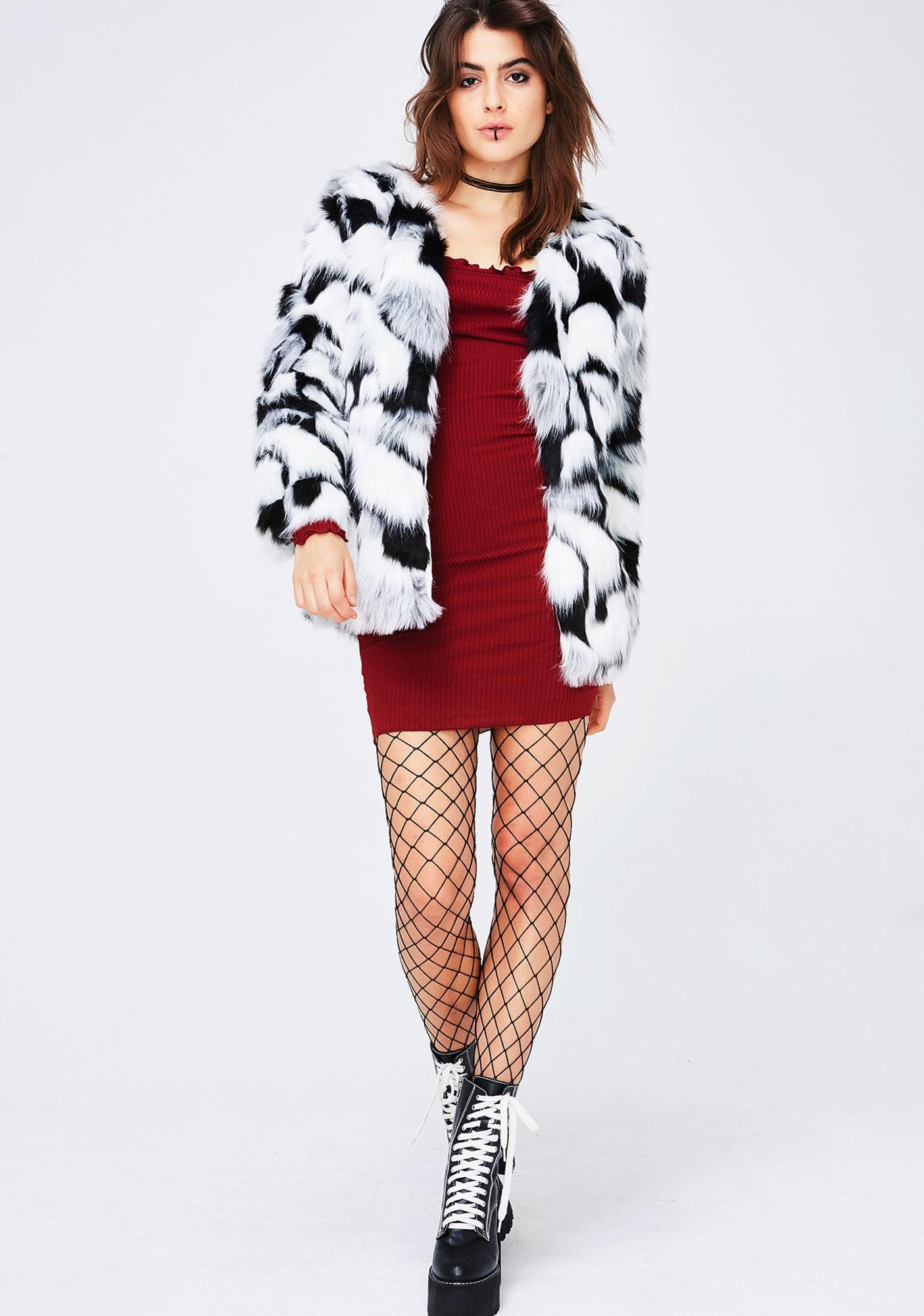 Cruel Instincts Furry Jacket