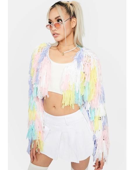 Pastel Like A Firebird Fringe Jacket