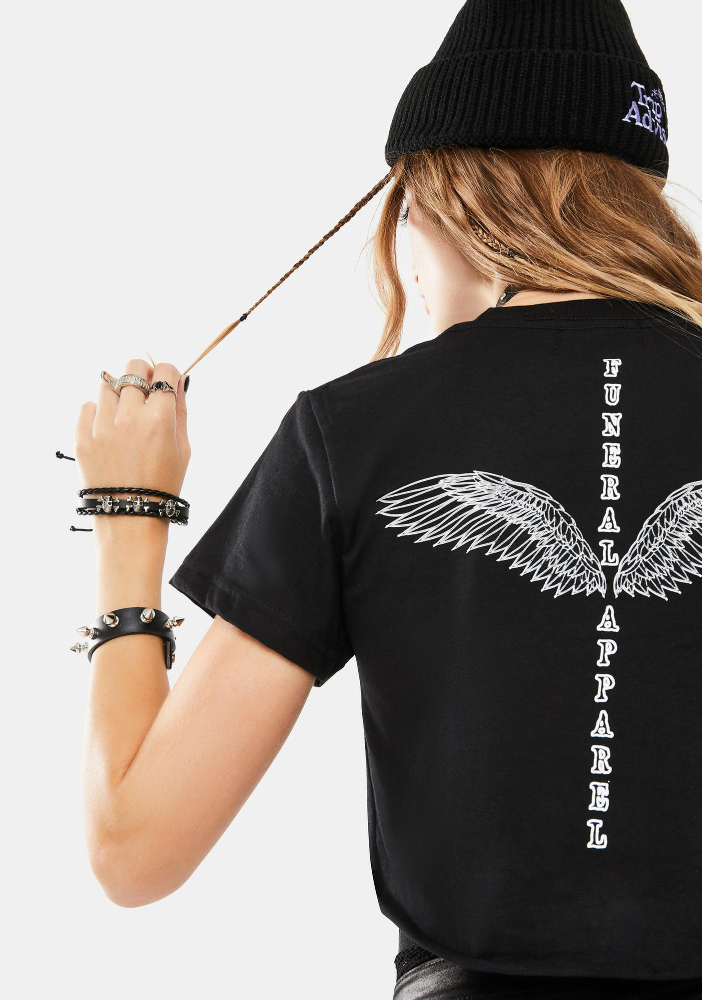 Funeral Black Winged Graphic Tee