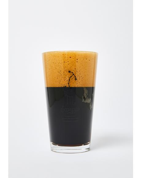 Scorpio Star Sign Pint Glass
