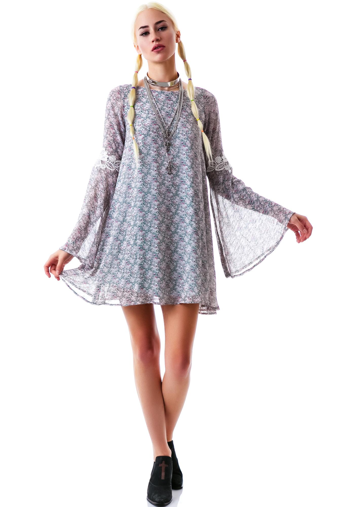 For Love & Lemons Flower Bomb Dress