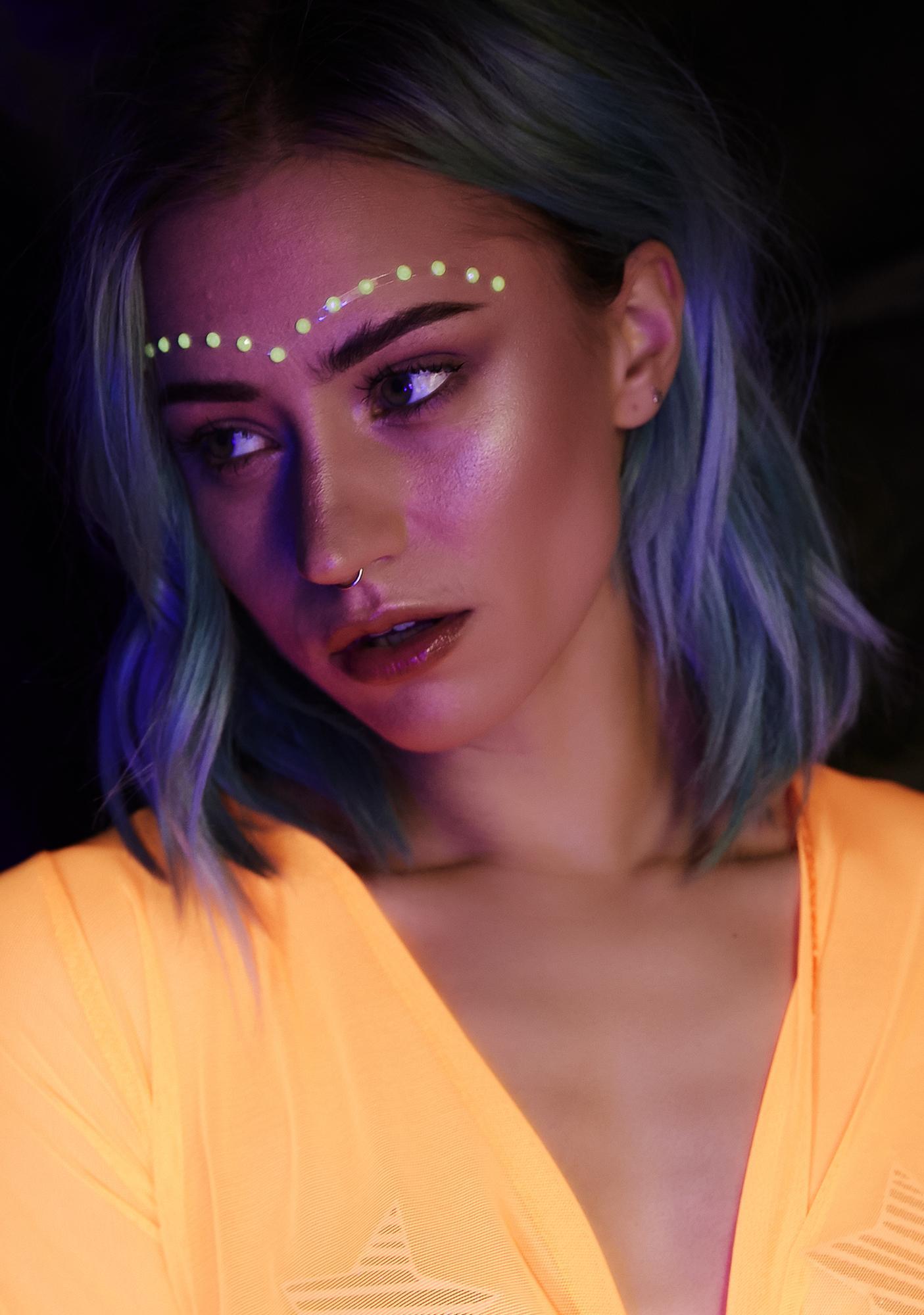 Kush Lit Gamma Glow In The Dark Face Gems