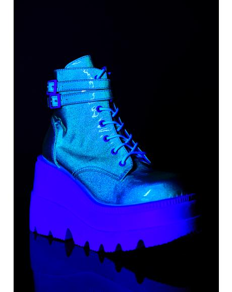 UV Glitter Technopagan Boots