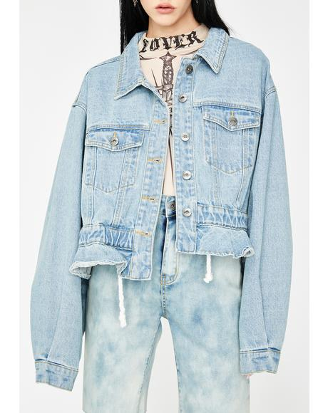 Dakota Oversized Cropped Denim Jacket