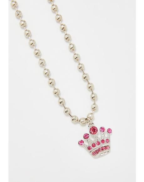 Spoiled N' Sassy Crown Necklace