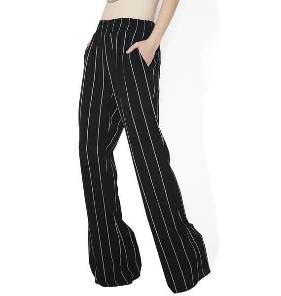 Boss Babe Striped Pants