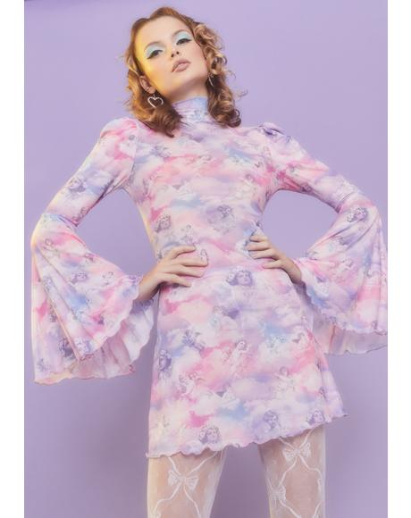 On Cloud Nine Bell Sleeve Dress