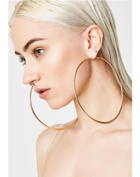 Save Her Hoop Earrings