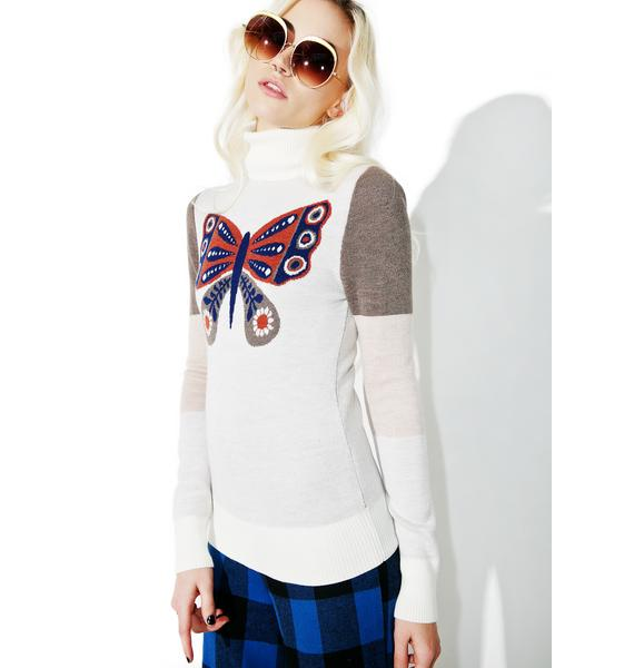 Sugarhigh + Lovestoned Mariposa Turtleneck