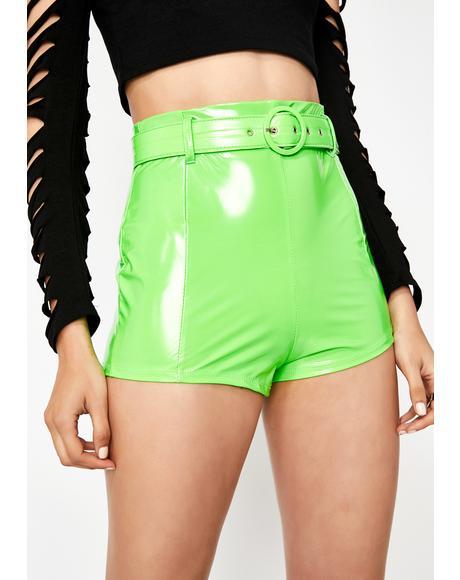 Slime Class Heartthrob Vinyl Shorts