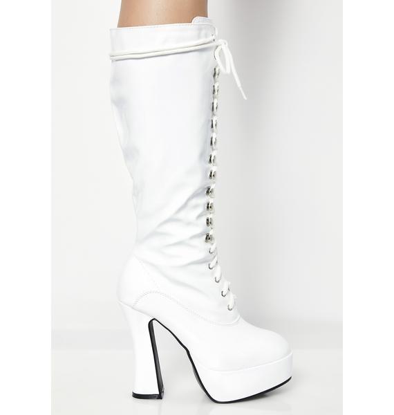 Icy Beverly Hills Baddie Platform Boots
