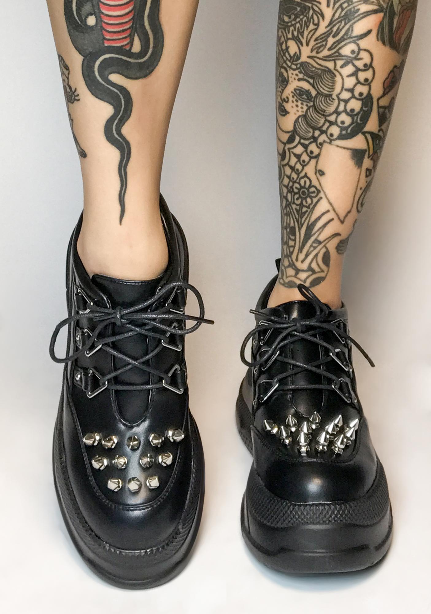 Lamoda Causin' Havoc Spiked Sneakers