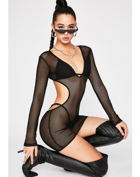 Show N' Tell Fishnet Dress Set