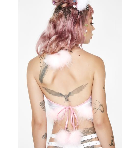 Sparkl Fairy Couture Pink Glamorous Crop Top